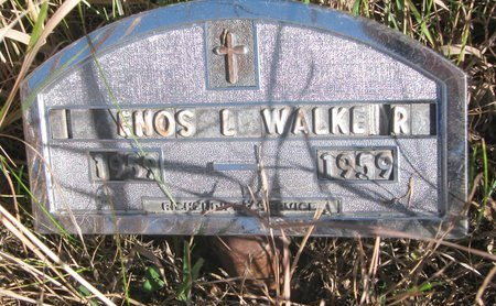 WALKER, ENOS L. - Thurston County, Nebraska | ENOS L. WALKER - Nebraska Gravestone Photos