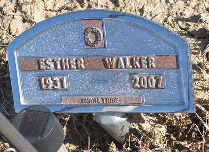 WALKER, ESTHER - Thurston County, Nebraska   ESTHER WALKER - Nebraska Gravestone Photos