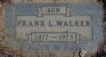 WALKER, FRANK L. - Thurston County, Nebraska   FRANK L. WALKER - Nebraska Gravestone Photos