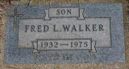 WALKER, FRED L. - Thurston County, Nebraska | FRED L. WALKER - Nebraska Gravestone Photos