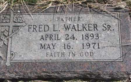 WALKER, FRED L. SR. - Thurston County, Nebraska | FRED L. SR. WALKER - Nebraska Gravestone Photos
