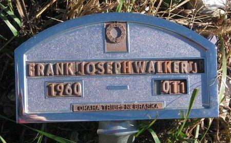 WALKER, FRANK JOSEPH JR. - Thurston County, Nebraska   FRANK JOSEPH JR. WALKER - Nebraska Gravestone Photos