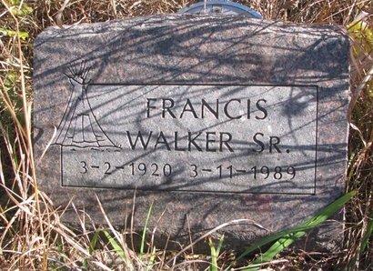 WALKER, FRANCIS SR. - Thurston County, Nebraska | FRANCIS SR. WALKER - Nebraska Gravestone Photos