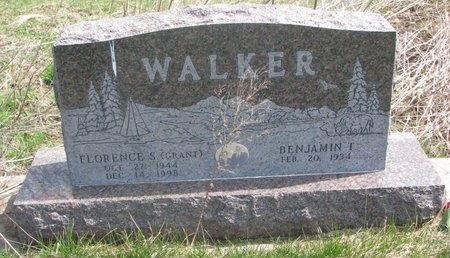 WALKER, BENJAMIN T. - Thurston County, Nebraska | BENJAMIN T. WALKER - Nebraska Gravestone Photos
