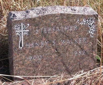 WALKER, HENRY S. - Thurston County, Nebraska | HENRY S. WALKER - Nebraska Gravestone Photos