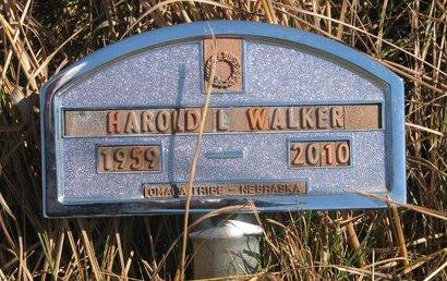 WALKER, HAROLD L. - Thurston County, Nebraska   HAROLD L. WALKER - Nebraska Gravestone Photos