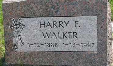 WALKER, HARRY F. - Thurston County, Nebraska | HARRY F. WALKER - Nebraska Gravestone Photos