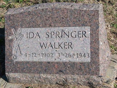 WALKER, IDA - Thurston County, Nebraska | IDA WALKER - Nebraska Gravestone Photos