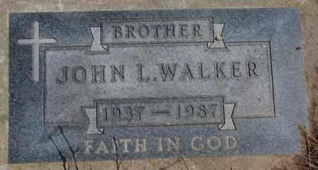 WALKER, JOHN L. - Thurston County, Nebraska   JOHN L. WALKER - Nebraska Gravestone Photos