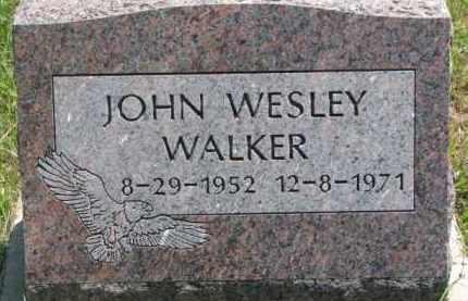 WALKER, JOHN WESLEY - Thurston County, Nebraska | JOHN WESLEY WALKER - Nebraska Gravestone Photos