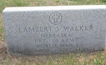 WALKER, LAMBERT S. - Thurston County, Nebraska | LAMBERT S. WALKER - Nebraska Gravestone Photos