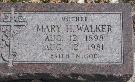 WALKER, MARY H. - Thurston County, Nebraska | MARY H. WALKER - Nebraska Gravestone Photos