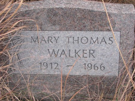 WALKER, MARY - Thurston County, Nebraska | MARY WALKER - Nebraska Gravestone Photos