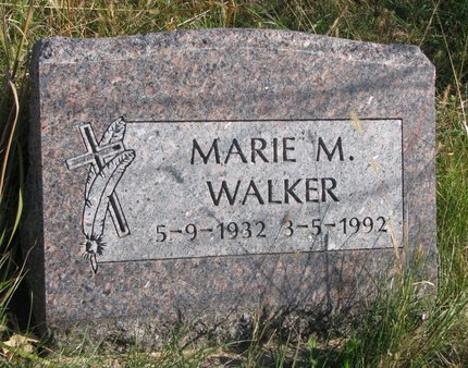WALKER, MARIE M. - Thurston County, Nebraska | MARIE M. WALKER - Nebraska Gravestone Photos