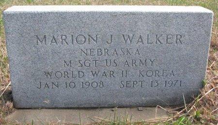 WALKER, MARION J. - Thurston County, Nebraska   MARION J. WALKER - Nebraska Gravestone Photos