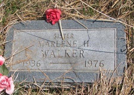 WALKER, MARLENE H. - Thurston County, Nebraska | MARLENE H. WALKER - Nebraska Gravestone Photos