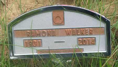 WALKER, RAMONA - Thurston County, Nebraska | RAMONA WALKER - Nebraska Gravestone Photos