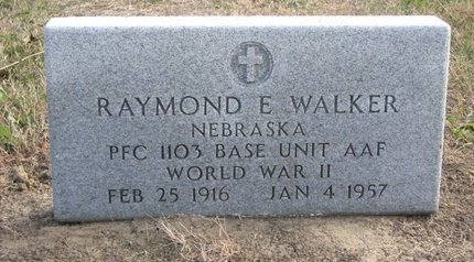 WALKER, RAYMOND E. - Thurston County, Nebraska | RAYMOND E. WALKER - Nebraska Gravestone Photos