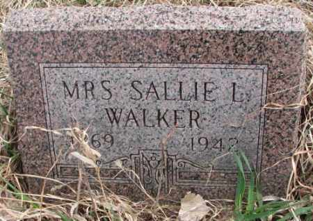 WALKER, SALLIE L. - Thurston County, Nebraska   SALLIE L. WALKER - Nebraska Gravestone Photos