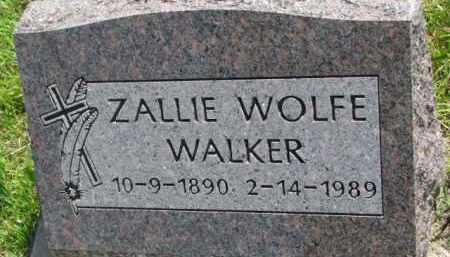 WALKER, ZALLIE - Thurston County, Nebraska   ZALLIE WALKER - Nebraska Gravestone Photos