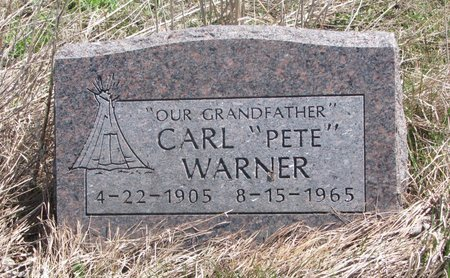 "WARNER, CARL ""PETE"" - Thurston County, Nebraska 