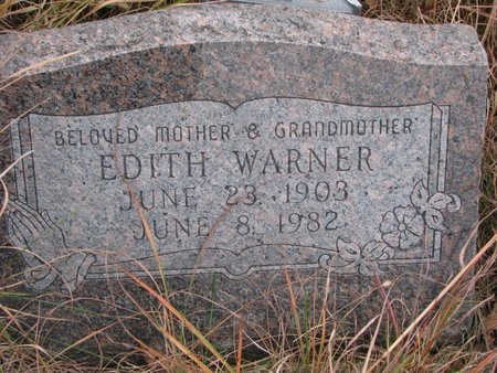 WARNER, EDITH - Thurston County, Nebraska | EDITH WARNER - Nebraska Gravestone Photos