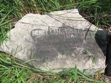 WARNER, HENRY LAWRENCE #1 - Thurston County, Nebraska | HENRY LAWRENCE #1 WARNER - Nebraska Gravestone Photos
