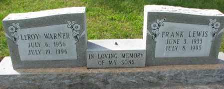 WARNER, LEROY - Thurston County, Nebraska   LEROY WARNER - Nebraska Gravestone Photos