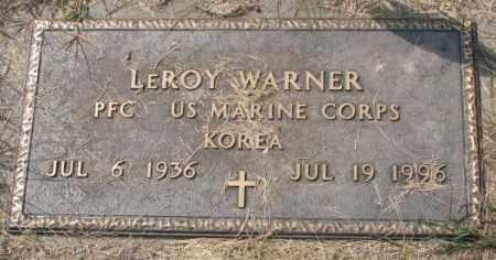 WARNER, LEROY (MILITARY) - Thurston County, Nebraska   LEROY (MILITARY) WARNER - Nebraska Gravestone Photos