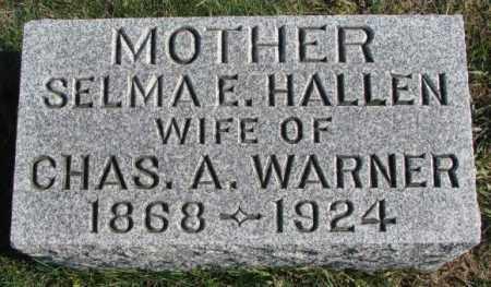 WARNER, SELMA E. - Thurston County, Nebraska   SELMA E. WARNER - Nebraska Gravestone Photos