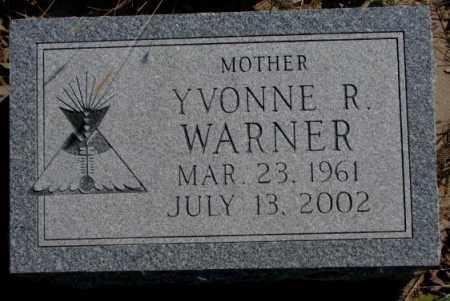 WARNER, YVONNE R. - Thurston County, Nebraska | YVONNE R. WARNER - Nebraska Gravestone Photos