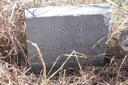 WEBSTER, MAUD S. - Thurston County, Nebraska | MAUD S. WEBSTER - Nebraska Gravestone Photos