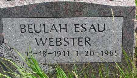 WEBSTER, BEULAH - Thurston County, Nebraska | BEULAH WEBSTER - Nebraska Gravestone Photos