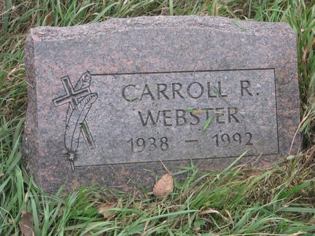WEBSTER, CARROLL R. - Thurston County, Nebraska | CARROLL R. WEBSTER - Nebraska Gravestone Photos