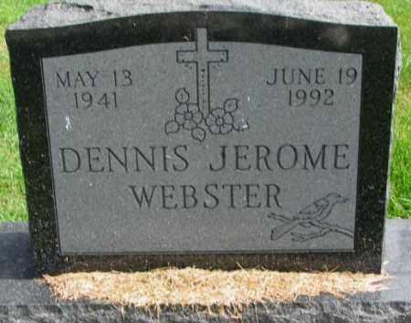 WEBSTER, DENNIS JEROME - Thurston County, Nebraska | DENNIS JEROME WEBSTER - Nebraska Gravestone Photos