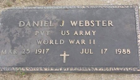 WEBSTER, DANIEL J. - Thurston County, Nebraska | DANIEL J. WEBSTER - Nebraska Gravestone Photos