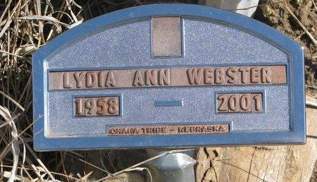 WEBSTER, LYDIA ANN - Thurston County, Nebraska   LYDIA ANN WEBSTER - Nebraska Gravestone Photos