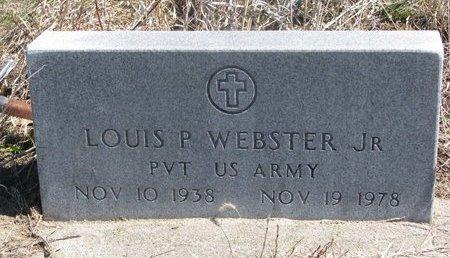 WEBSTER, LOUIS P. JR. - Thurston County, Nebraska   LOUIS P. JR. WEBSTER - Nebraska Gravestone Photos