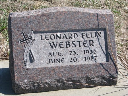 WEBSTER, LEONARD FELIX - Thurston County, Nebraska | LEONARD FELIX WEBSTER - Nebraska Gravestone Photos