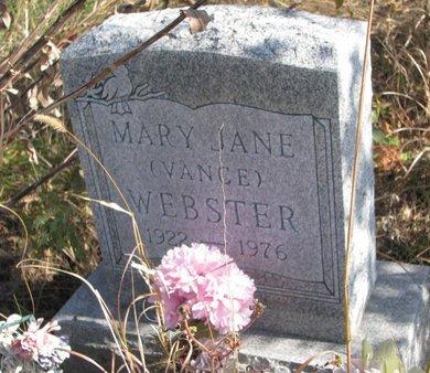 WEBSTER, MARY JANE - Thurston County, Nebraska | MARY JANE WEBSTER - Nebraska Gravestone Photos