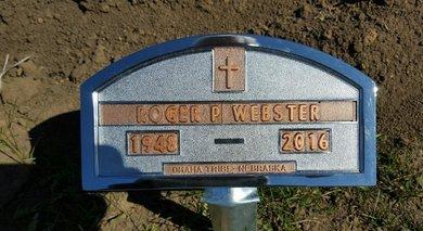 WEBSTER, ROGER P. - Thurston County, Nebraska | ROGER P. WEBSTER - Nebraska Gravestone Photos