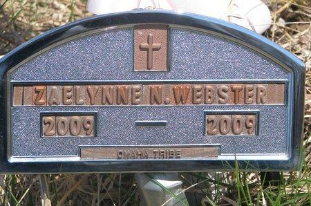 WEBSTER, ZAELYNNE N. - Thurston County, Nebraska | ZAELYNNE N. WEBSTER - Nebraska Gravestone Photos