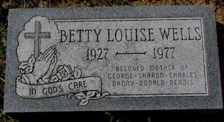 WELLS, BETTY LOUISE - Thurston County, Nebraska | BETTY LOUISE WELLS - Nebraska Gravestone Photos