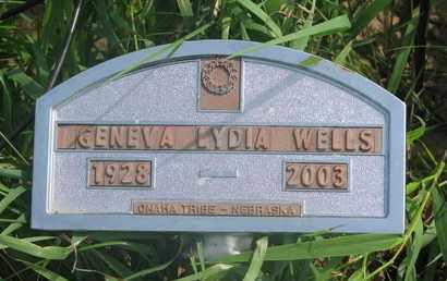 WELLS, GENEVA LYDIA - Thurston County, Nebraska   GENEVA LYDIA WELLS - Nebraska Gravestone Photos