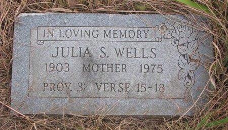WELLS, JULIA S. - Thurston County, Nebraska   JULIA S. WELLS - Nebraska Gravestone Photos
