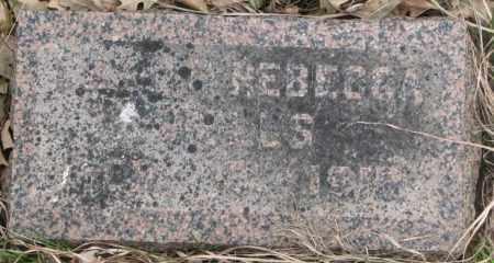 WELLS, LILLIAN REBECCA - Thurston County, Nebraska | LILLIAN REBECCA WELLS - Nebraska Gravestone Photos