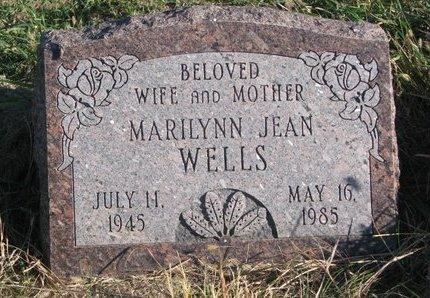 WELLS, MARILYNN JEAN - Thurston County, Nebraska | MARILYNN JEAN WELLS - Nebraska Gravestone Photos