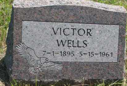 WELLS, VICTOR - Thurston County, Nebraska | VICTOR WELLS - Nebraska Gravestone Photos