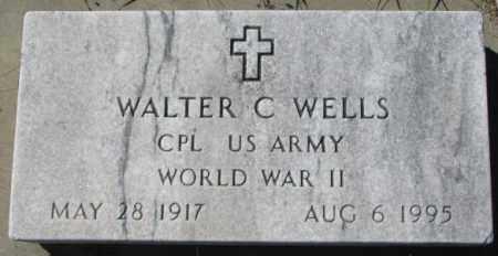 WELLS, WALTER C. - Thurston County, Nebraska | WALTER C. WELLS - Nebraska Gravestone Photos
