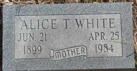 WHITE, ALICE T. - Thurston County, Nebraska | ALICE T. WHITE - Nebraska Gravestone Photos